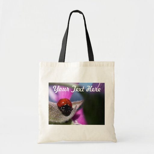 Lady Bug & Purple Flower Bag