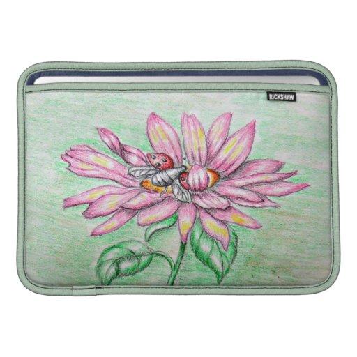 lady bug's flower sleeves for MacBook air