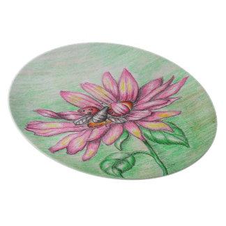 lady bug's flower dinner plates