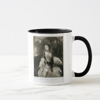 Lady Caroline Russell, engraved by James McArdell Mug
