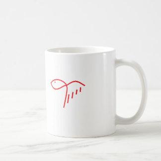 lady fish basic white mug