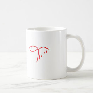 lady fish coffee mug