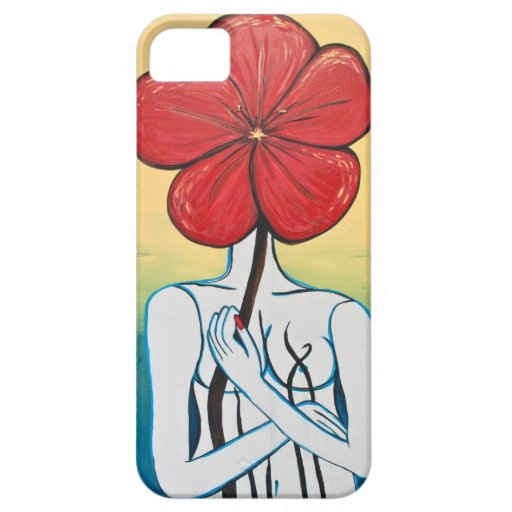 Lady Flower #2 Case For iPhone 5/5S
