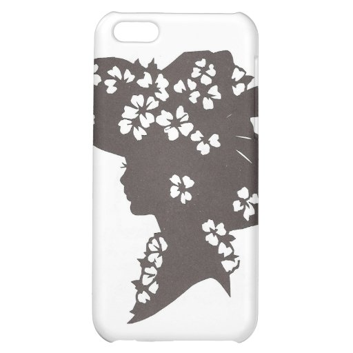 Lady in flowered hat iPhone 5C case