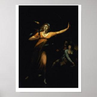 Lady Macbeth Sleepwalking, 1783 (oil on canvas) Poster