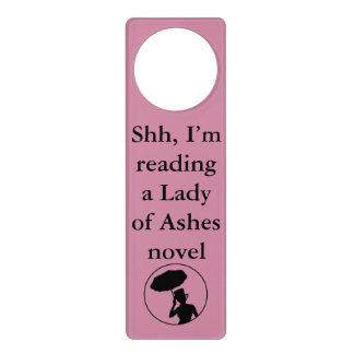 Lady of Ashes Door Hanger, Pink - Shh Door Knob Hangers