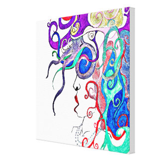 Lady of life stretched canvas prints