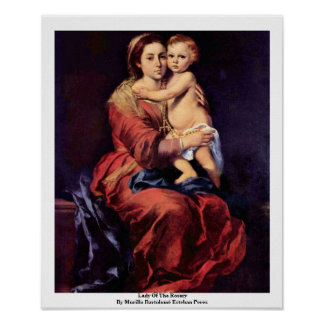 Lady Of The Rosary Poster