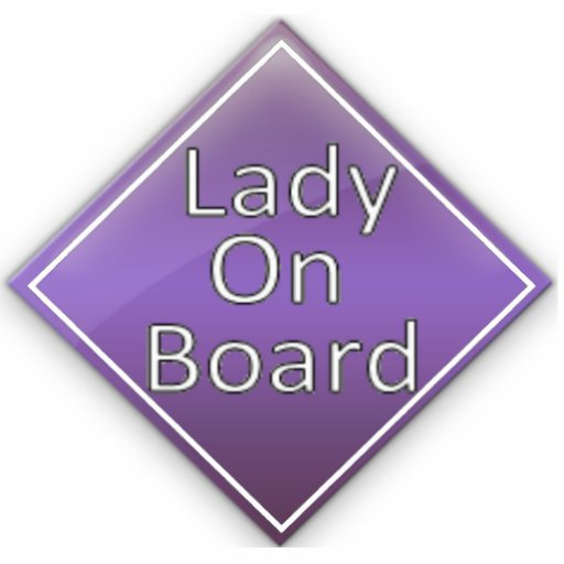 Lady on Board Magnet Photo Sculpture