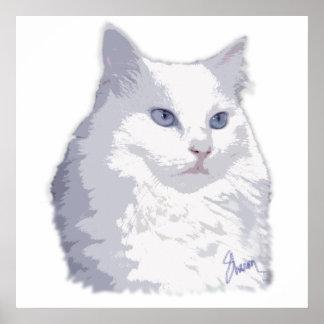 Lady Princess Cat Watercolor Poster