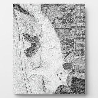 Lady Princess Kittie Lounging Sketch Plaque