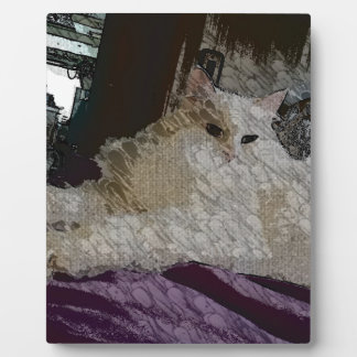 Lady Princess Kitty Canvas Painting Plaque