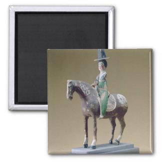 Lady rider, Astana, 7th century (stucco) Magnet