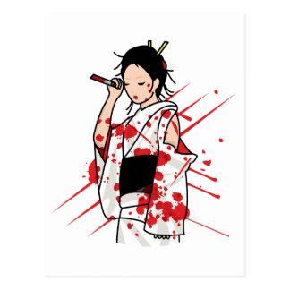 Lady Snow Blood Postcard