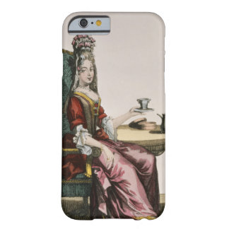 Lady Taking Coffee fashion plate c 1695 engravi iPhone 6 Case
