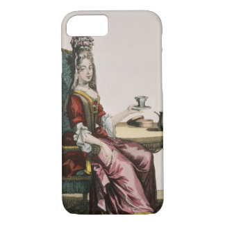 Lady Taking Coffee, fashion plate, c.1695 (engravi iPhone 7 Case