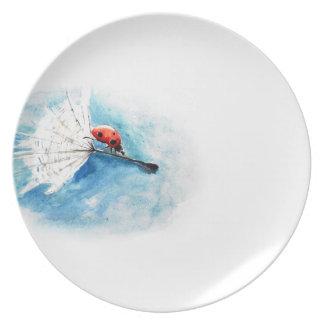 Ladybird plate