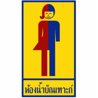 Ladyboy / Tomboy Toilet ⚠ Thai Sign ⚠ Cut Out