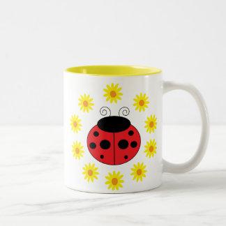 Ladybug and Daisies Mug