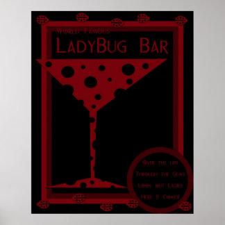 Ladybug Bar Poster