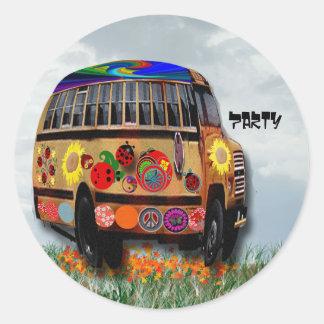 Ladybug Bus Round Sticker