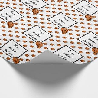 Ladybug in orange wrapping paper