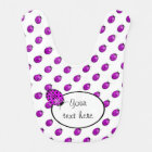 Ladybug in pink/purple bib