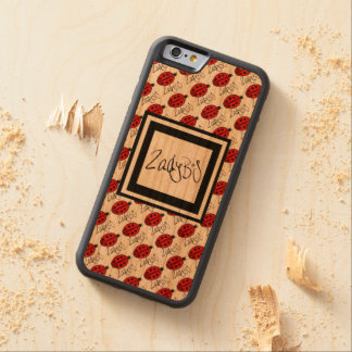 Ladybug iPhone 6/6s - Graphic Sculptor Studios Carved Cherry iPhone 6 Bumper Case