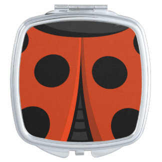 Ladybug Shell Travel Mirrors