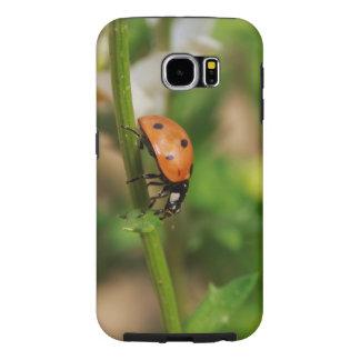 Ladybug Walking on a Daisy Stem Samsung Galaxy S6 Cases