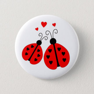 Ladybugs in Love Button