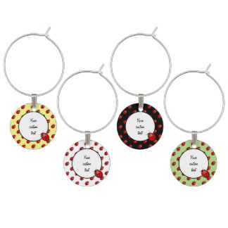 Ladybugs in red wine charm