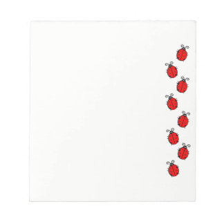 Ladybugs on Parade Notepad