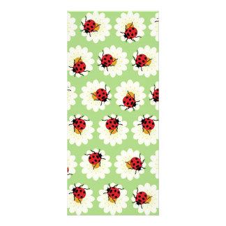 Ladybugs pattern customised rack card