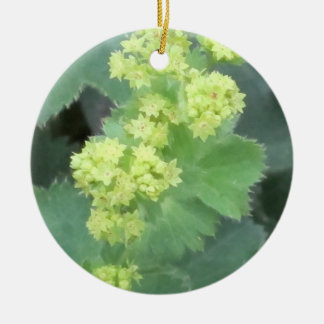 Lady's Mantle Flowers Round Ceramic Decoration