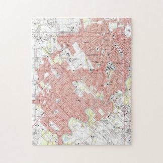 Lafayette Louisiana Map (1983) Jigsaw Puzzle