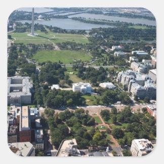 Lafayette Square Aerial Photograph Square Sticker