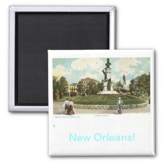 Lafayette Square, New Orleans 1906 Vintage Magnet