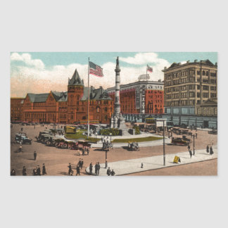 Lafayette Square Vintage Buffalo Rectangular Sticker