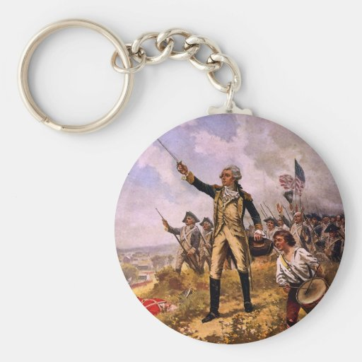 Lafayette's Baptism of Fire by E. Percy Moran Key Chains