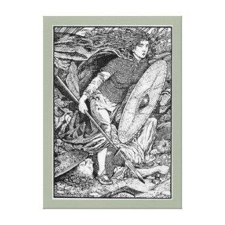 Lagertha Shield Maiden Canvas Print