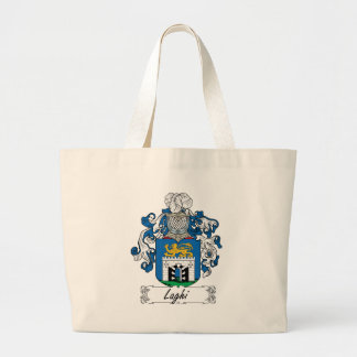 Laghi Family Crest Large Tote Bag
