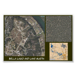 Lago and Lake Austin Poster
