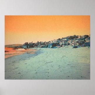 Laguna Beach Treasure Island (Add Your Own Text) Poster