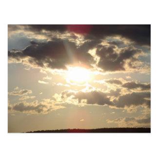 Laid down Sun Postcard