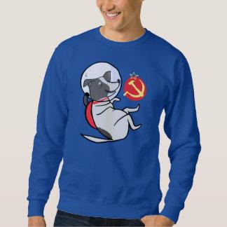 laika w/ flag sweatshirt