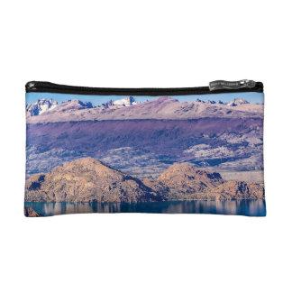 Lake and Mountains Landscape, Patagonia, Chile Makeup Bag