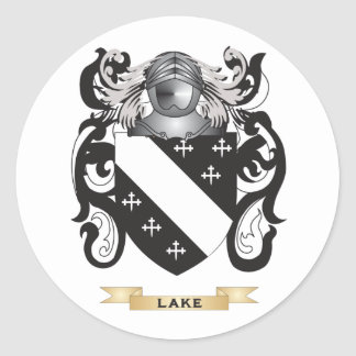 Lake Coat of Arms (Family Crest) Round Sticker
