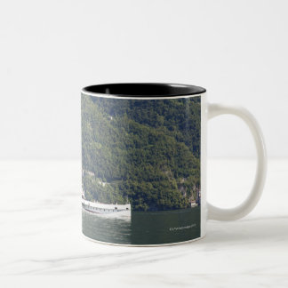Lake Como, ferry boat Two-Tone Coffee Mug