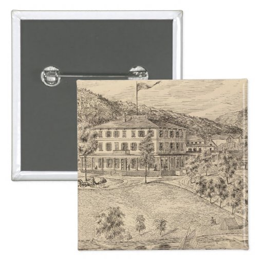 Lake Dunmore House in Salisbury Pinback Buttons
